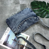 Light Weight Soft Denim Tote Unisex Shopper Shoulder Handbag ESG10783