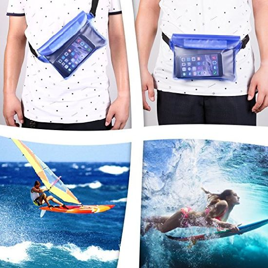 Waterproof Pouch with Waist Strap,Travelling Bags Valuables Dry ESG10527