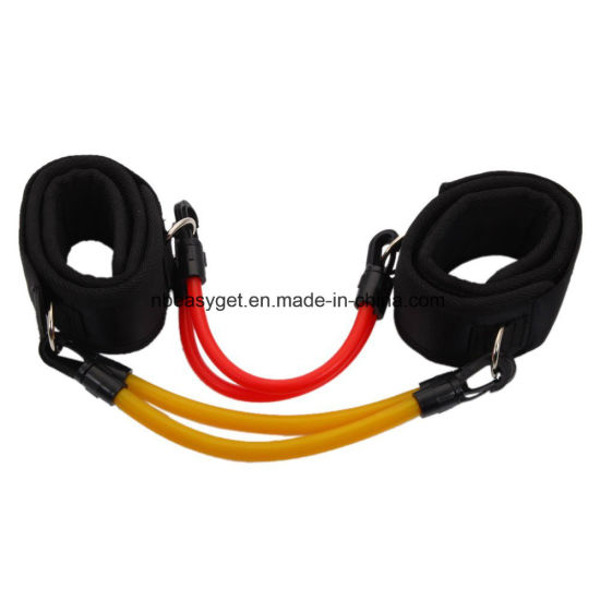 Gym Fitness Exercise Strong Tube Ankle Straps, ESG10090-2