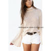 Women High Neck Long Sleeve Casual Loose Tunic Tops ESG10275