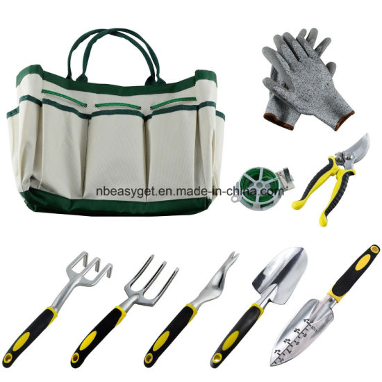 Garden Tool Sets Plant Rope Work Gloves Aluminum Heads ESG10154