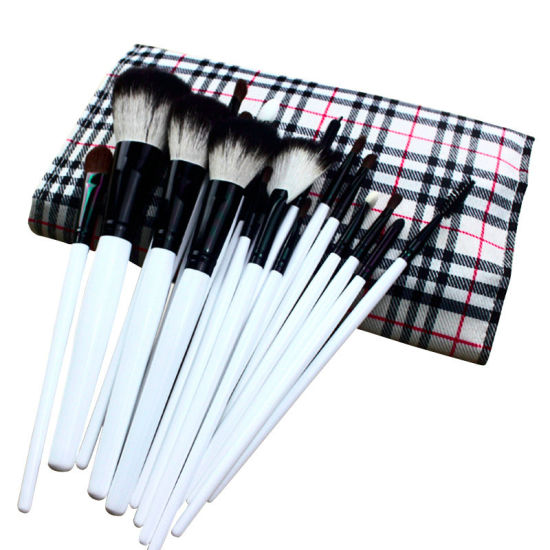 20 PCS Powder Foundation Eyeshadow Eyeliner Lip Cosmetic Brushes ESG10494