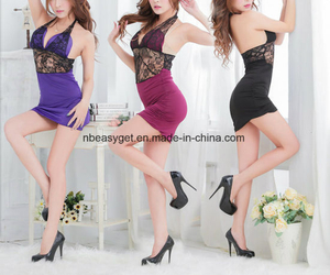Women′s Sequins Sexy Deep V Neck Backless Party Playsuit ESG10297