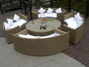 Rattan Furniture/Outdoor Furniture/Rattan Dining (GET6067)