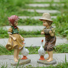 Resin Figures Garden Decoration, Outdoor Statue, Patio Yard Decoration ESG10129