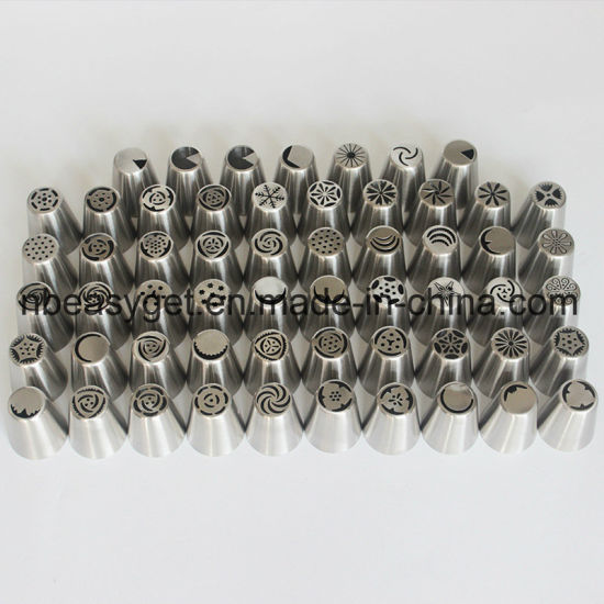 57PCS Stainless Steel Baking Pastry Cake Decoration Tools Bakeware ESG10158