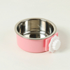Stainless Steel Removable Hanging Food Water Bowl Cage Bowl for Dogs Cats Birds Small Animals ESG12371