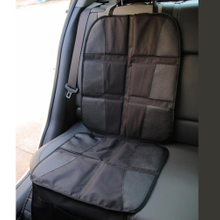 Car Seat Protector with Thickest Padding - Featuring XL Size Durable Waterproof 600d Fabric PVC Leather Reinforced Corners & Mesh Pocket ESG12884