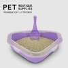 Corner Triangle Cat Litter Box Open Top ESG12363