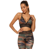 Yoga Mesh Cut-out Strapped Crop Top High Waisted Leggings Set ESG13352