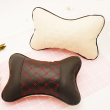 Car Neck Pillow PU Leather Travel Pillow for Head Rest Neck Support ESG12862