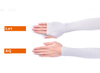 1 Pair Cooling Arm Sleeves with Hand Cover UV Sun Protection for Unisex Stretch Sport Outdoor ESG12878