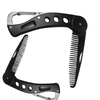 Stainless Steel Beard and Mustache Styling Comb Pocket Folding Comb ESG12354