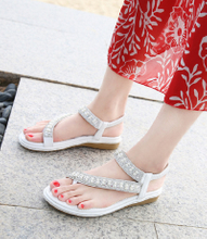 Women′s Thong Flat Sandals Casual Beaded Comfortable Slip on ESG13402